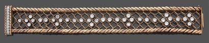 Bracelet large et souple en or jaune 750...