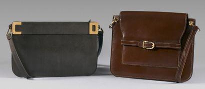 Christian DIOR, made in France et SCHILZ Paris Lot comprenant une pochette en cuir...