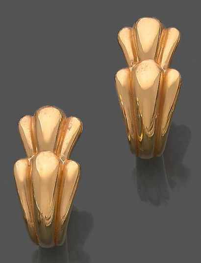 Paire de boucles d'oreilles en or jaune 750...