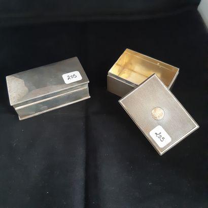Deux boîtes rectangulaires en argent 925...