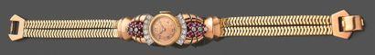 Montre bracelet de dame en or jaune 750 millièmes...
