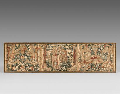 Bandeau en tapisserie représentant un couple...