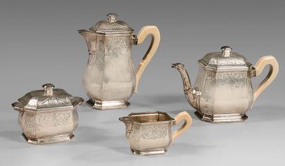 Service à thé et à café de forme balustre...