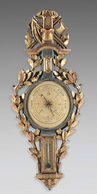 Baromètre-thermomètre selon Torricelli et...