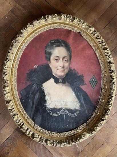 Paul MATHEY (1844-1929) : Portrait de Caroline-Marie...
