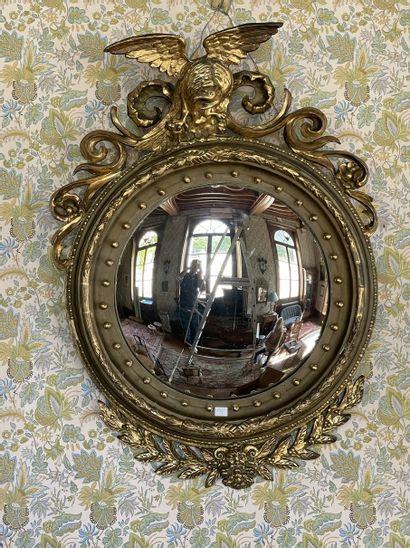 Grand miroir ''sorcière'' dans un encadrement...