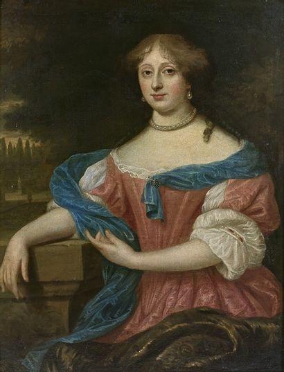 Attribué à François DUCHATEL (1616/25-1679/94) Portrait de jeune femme Huile sur...