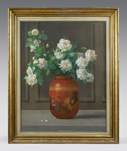 Lucien GUIRAND de SCEVOLA (1871-1950) Roses...