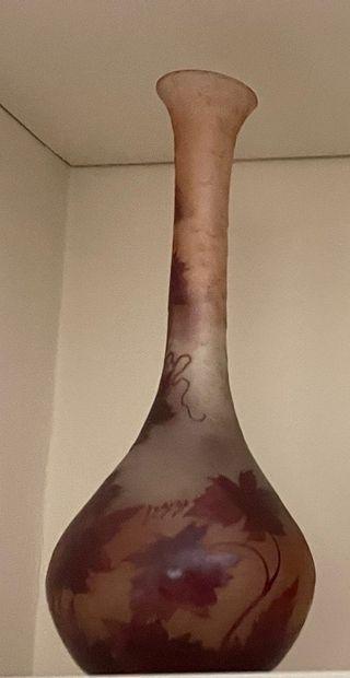 Vase soliflore en verre multicouche orné...