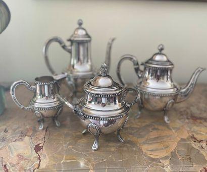 Service à thé et à café, comprenant quatre...