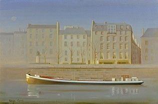Serge CARRE (né en 1929) Bords de Seine,...