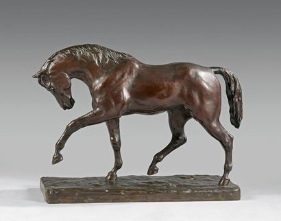 Henri Regnault (1843-1871) Cheval piaffant...