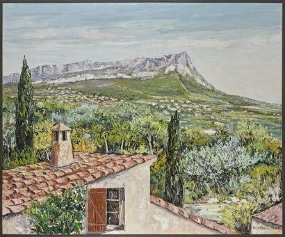 Gérard DEYMONAZ (né en 1940) Paysage de Provence Huile sur toile, signée en bas...