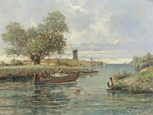 Gustave MASCART (1834-1914) Barques sur un...