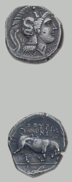 LUCANIE Thurium (410-330 av. J.-C.). Distatère....