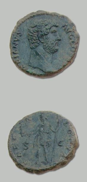 HADRIEN (117-138) As. Sa tête nue à droite....