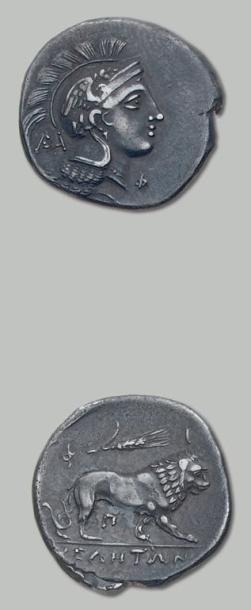 Vélia (400-350 av. J.-C.). Statère. 7,45...