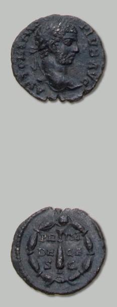 Petit bronze: les voeux décennaux. Sa tête...