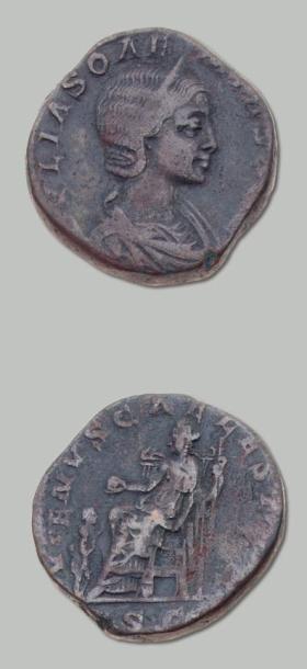 JULIA SOEMIAS, mère d'Elagabale (+ 222) Sesterce....