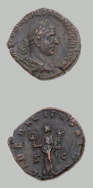 TREBONNIEN GALLE (251-253) Sesterce. Son...