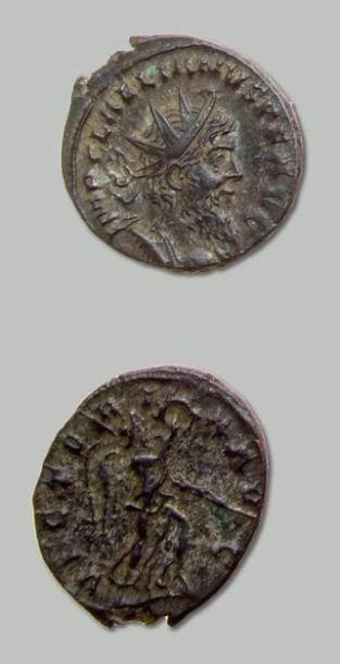 LELIEN (268) Antoninien. Son buste lauré...