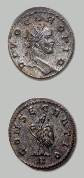 CARUS (282-283) Antoninien: concécration....