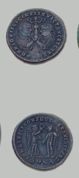 LICINIUS et son fils Follis de Billon (318)....