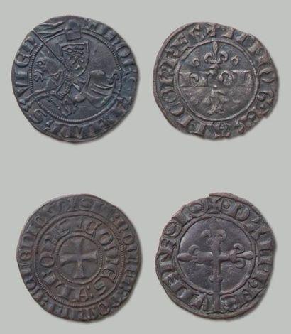 7 Monnaies en argent, de l'époque de Humbert...