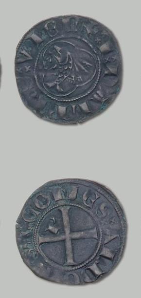 7 Monnaies: Humbert II: Gros au dauphin (PA...