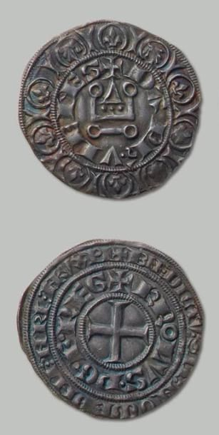 CHARLES V (1349-1364) Gros tournois en argent....