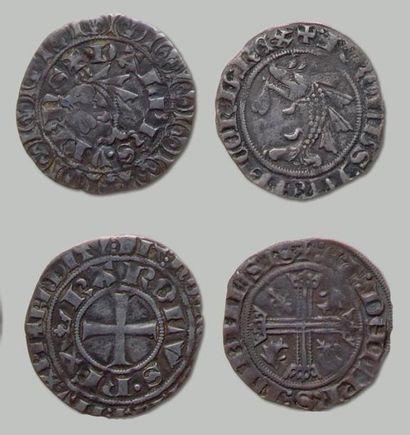 Lot de 5 Monnaies: Gros delphinal (4 exemplaires)...