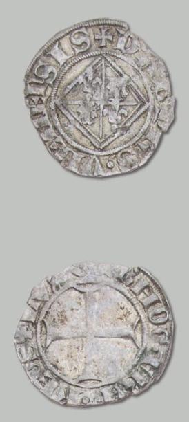 10 Monnaies: 6 blancs guénar (Charles VI),...