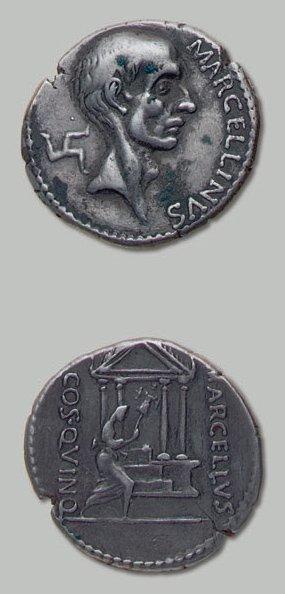 CLAUDIA (50 av. J.-C.) Tête nue du Consul...