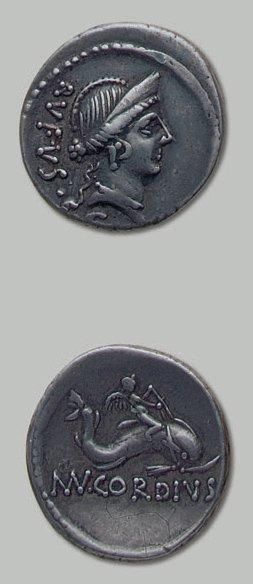 CORDIA (46 av. J.-C.) Tête diadémée de Vénus....