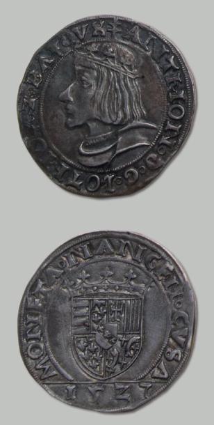 Antoine (1508-1544). Teston en argent. Belle...