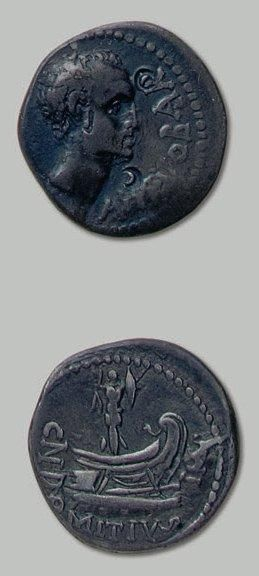 DOMITIA (41 av. J.-C.) Tête nue de Ahenobarbus...