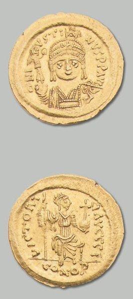 JUSTIN II (565-578) Solidus. 4,48 g. Constantinople,...