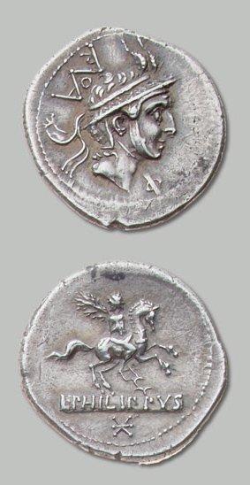 MARCIA (113-112 av. J.-C.) Tête de Philippe...