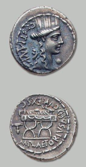 PLAETORIA (67 av. J.-C.) Tête tourelée de...