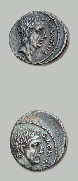 POMPEIA (54 av. J.-C.) Tête nue du Consul...