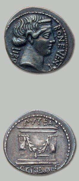 SCRIBONIA (62 av. J.-C.) Tête diadémée de...