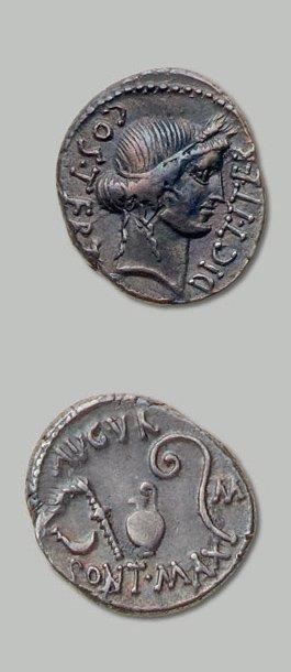 JULES CÉSAR (100-44 av. J.-C.) Tête de Cérès...