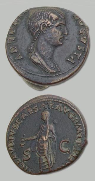 ANTONIA (épouse de Néron Drusus) Dupondius...