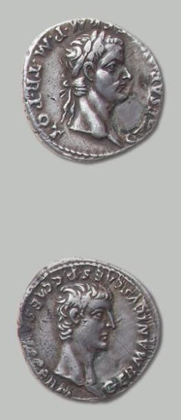 CALIGULA et GERMANICUS Denier (37) Lyon....