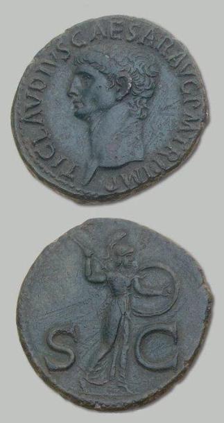 CLAUDE (41-54) As. Sa tête nue à gauche....
