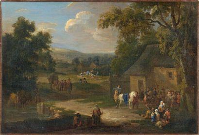 Attribué à Pieter BOUT (1644-1711) et Adriaen Frans BOUDEVIJNS (1658-1719)