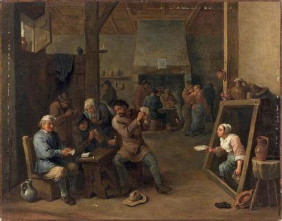 ÉCOLE FLAMANDE du XVIIe siècle, d'après David TENIERS