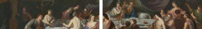Gérard HOET (Bommel 1648 - La Haye 1733) La danse de Salomé Le banquet d'Antoine...