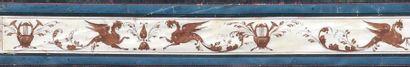 Tommaso BIGATTI (actif vers 1800) Projet de décoration murale dans le goût pompéien,...