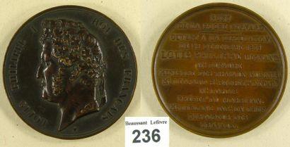 Monarchie de Juillet - Médaille commémorative...